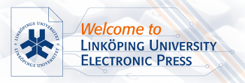 Logo Linköping University Electronic Press