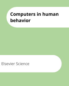 Cover Computers in human behavior