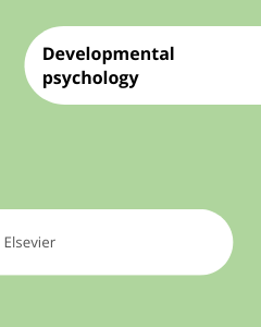Cover Developmental psychology
