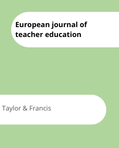 Cover European journal of teacher education