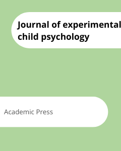 Cover Journal of experimental child psychology