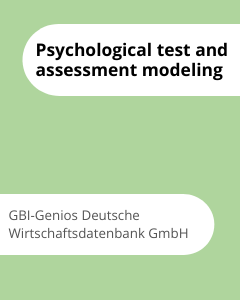 Cover Psychological test and assessment modeling