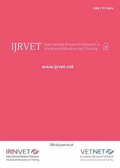Cover International journal for research in vocational education and training