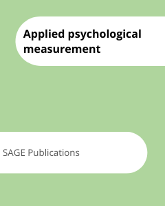 Cover Applied psychological measurement