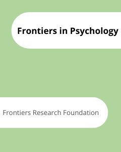 Cover Frontiers in Psychology