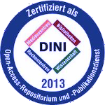 certified as Open-Access-Repository und Publication Service - DINI 2013